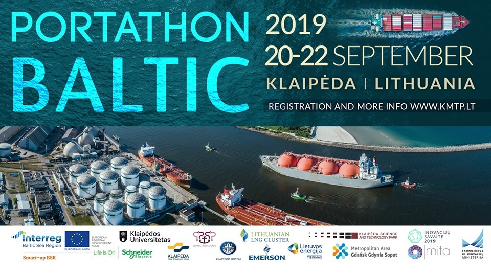 WP 6.4 -Implementation of Match Making Events and Knowledge Roadshows, Portathon Baltic 2019 I Port Technology Hackathon in Klaipeda