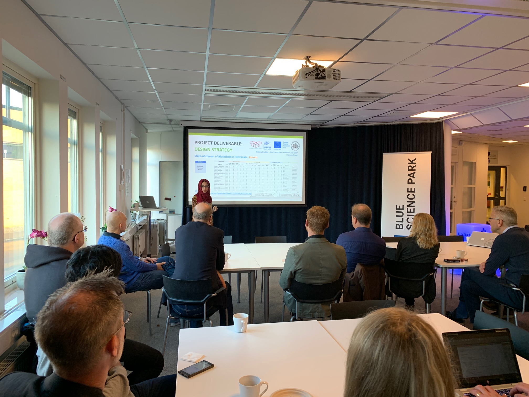 WP 2.7—Cross-project activities, Business Breakfast in Karlskrona